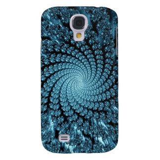 Icy Blue Chasm Fractal Galaxy S4 Case