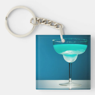 Icy Blue Margarita Key Ring