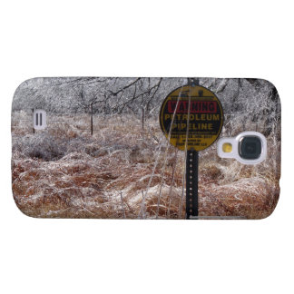 Icy Petroleum Pipeline Warning Galaxy S4 Case