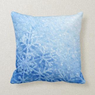 Icy Snowflake Throw Pillow