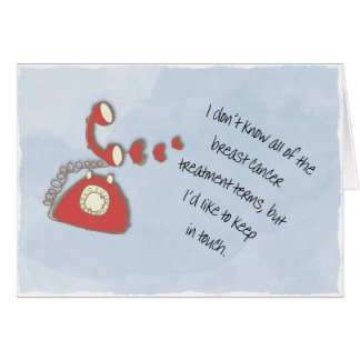 I'd like to keep in touch greeting card