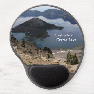 I'd rather be at Crater Lake mousepad Gel Mouse Pad