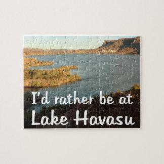 I'd Rather be at Lake Havasu Jigsaw Puzzle
