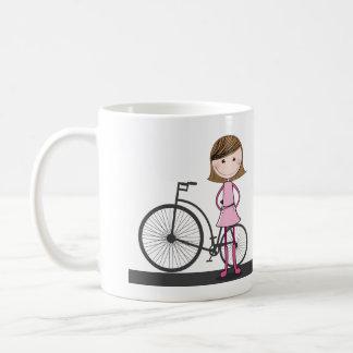 I'd rather be cycling! basic white mug