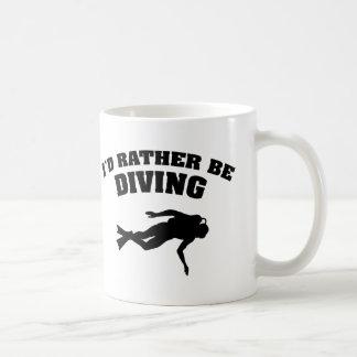 I'd Rather Be Diving Coffee Mug