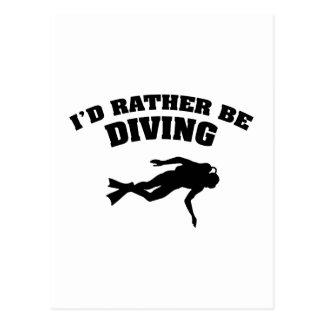 I'd Rather Be Diving Postcard
