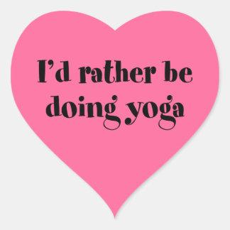 I'd Rather Be Doing Yoga Sticker