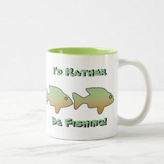 I'd Rather Be Fishing, 4 fish, mug