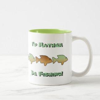 I'd Rather Be Fishing, 6 fish, mug