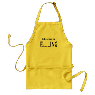 I'd Rather be FishING - Funny Fishing Aprons