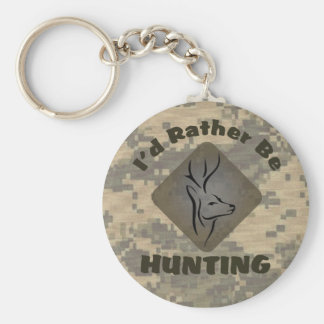 I'd Rather Be Hunting for Hunters Basic Round Button Key Ring