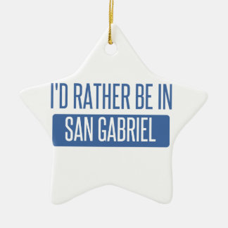 I'd rather be in San Gabriel Christmas Ornament