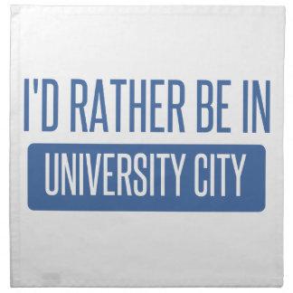 I'd rather be in University City Napkin