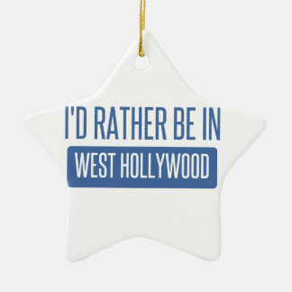 I'd rather be in West Hollywood Christmas Ornament