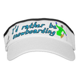 I'd rather be snowboarding visor