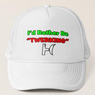 """I'd Rather Be """"TWERKING"""" Trucker Hat"""