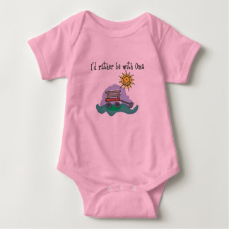 I'd Rather be with Oma Baby Bodysuit