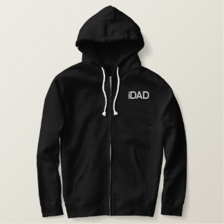 iDad in black Embroidered Hoodie