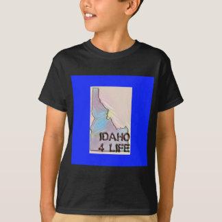 """Idaho 4 Life"" State Map Pride Design T-Shirt"