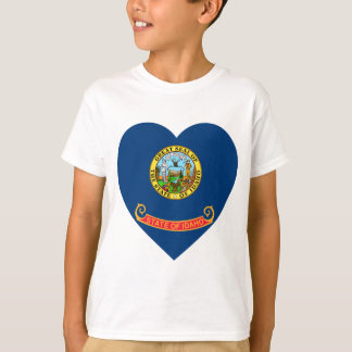 Idaho Flag Heart T-Shirt