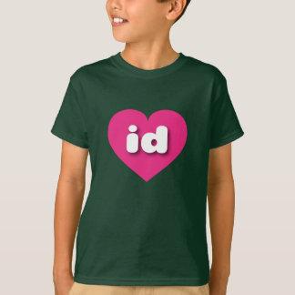 idaho hot pink heart - mini love T-Shirt