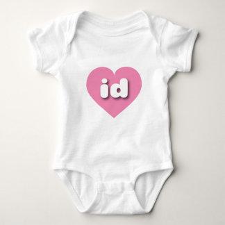 Idaho pink heart - mini love baby bodysuit
