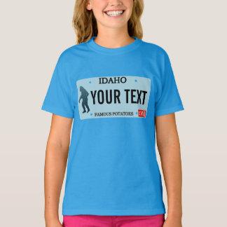 Idaho Sasquatch License Plate T-Shirt