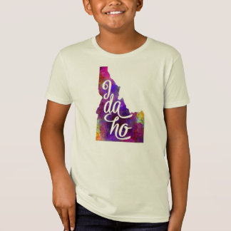 Idaho U.S. State in watercolor text cut out T-Shirt