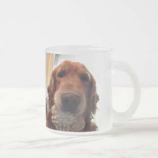 Idaho's Selfie With his Toy Frosted Glass Coffee Mug