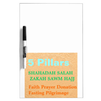 IDEAL GIFT: 5 Pillars Check List U like HAVE Dry Erase White Board