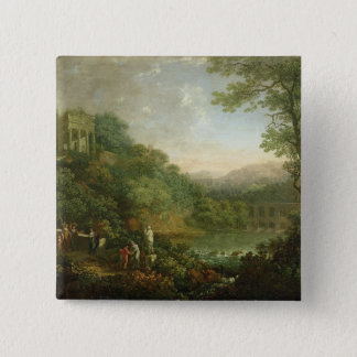 Ideal Landscape, 1776 15 Cm Square Badge