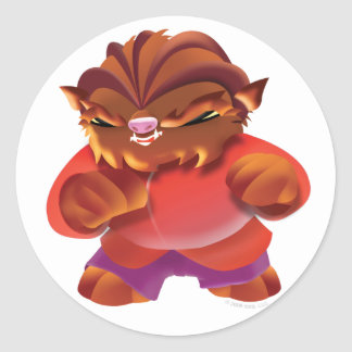 Idolz Monsters Truf Classic Round Sticker