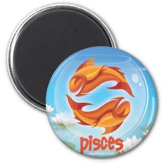 Idolz Pisces Circle Magnet