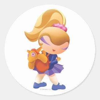 Idolz School Nat Classic Round Sticker