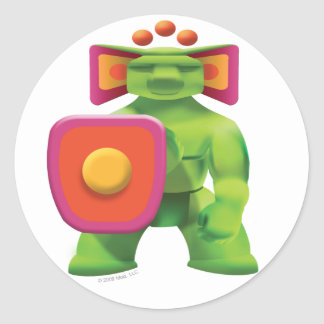 Idolz Totemz Jabr Classic Round Sticker