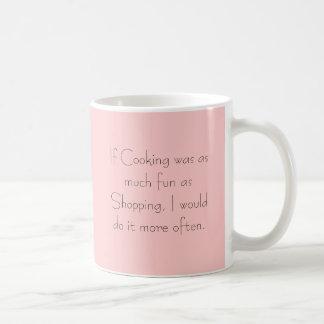 If Cooking was as much fun as Shopping Coffee Mug