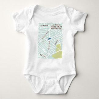 If found, please return to Rockridge. Baby map Baby Bodysuit