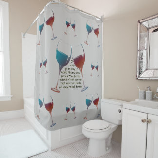 If I ever go missing, fun saying Shower Curtain