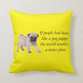 If people had hearts like a pug puppy pillow