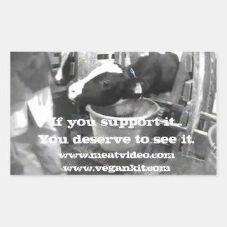 If support it... (AR activism-dairy) Rectangular Sticker