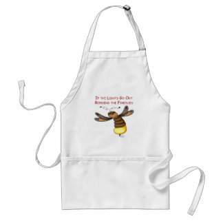 If the Lights Go Out Befriend the Fireflies Standard Apron