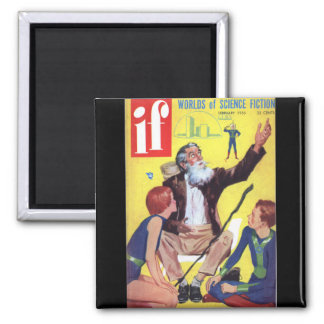 If v04 n06 (1955-02.Quinn)Pulp Art Square Magnet