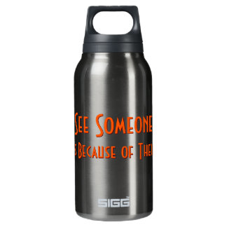 If You See Someone Crying.. Funny Flask Insulated Water Bottle