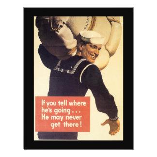 If You Tell World War 2 21.5 Cm X 28 Cm Flyer