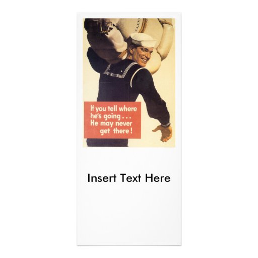 If You Tell World War 2 Custom Rack Cards