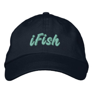 iFish Embroidered Baseball Cap