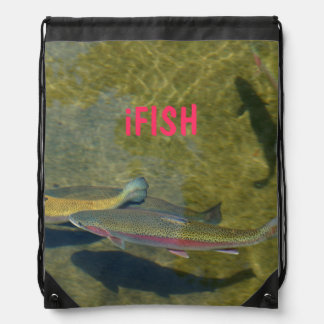 iFISH gifts backpacks drawstrings Rainbow Trout