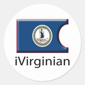 iFlag Virginia Round Sticker