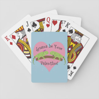 Iguana be your Valentine Playing Cards