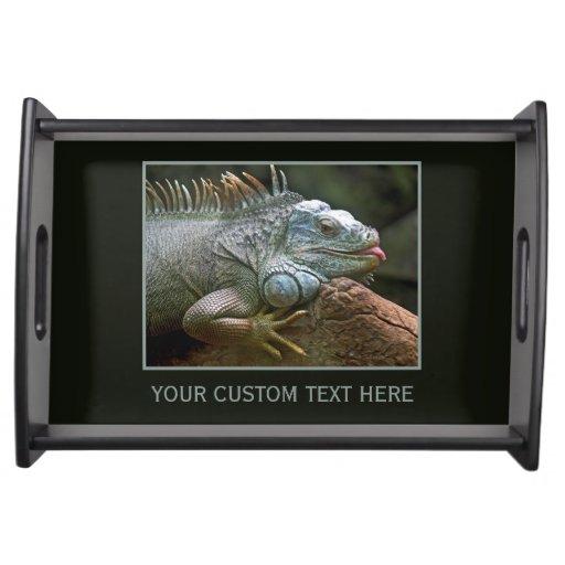 Iguana custom serving tray